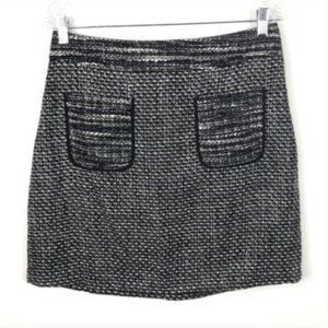 Loft Ann Taylor Boucle Tweed skirt with Pockets 6
